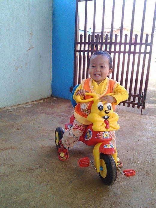 Bé Vương con trai anh Huynh bỗng nhiên mất tích bí ẩn. Ảnh: Internet