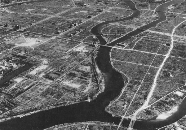 Hiroshima gần như bị san phẳng.