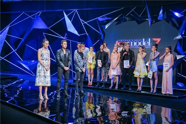 Năm thí sinh: Anh Thư, Út Trang, Kim Nhã, Duy Minh và Hoài Nam rơi vào vòng nguy hiểm. Anh Thư và Kim Nhã được trao quyền đi tiếp, 3 thí sinh còn lại phải chia tay hành trình trở thành quán quân Vietnam's Next Top Model 2016.