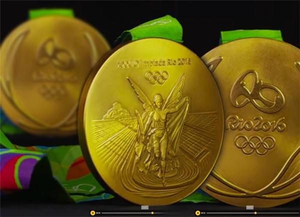 Những tấm huy chương vàng quý giá được tạo ra từ khoảng1,2% vàng nguyên chất không chứathủy ngân- thường được dùng trong chưng cất vàng để mạ bên ngoài,còn lại 98,8% được làm từ bạc.