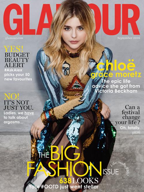 Chloe đã vinh dự xuất hiện trên trang bìa tạp chí Glamour số tháng 8.