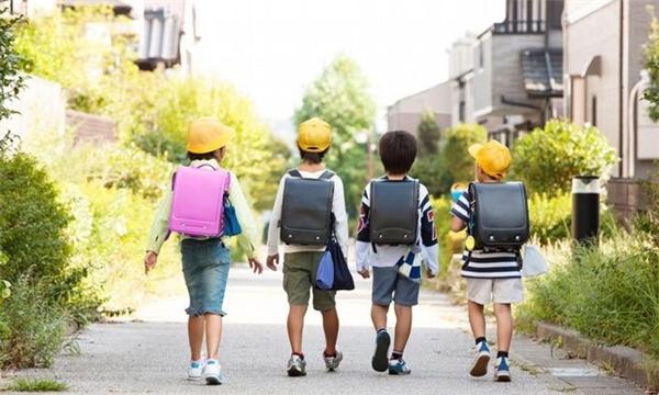 Chính phủ Nhật bắt buộc các học sinh tiểu học phải sử dụng cặp chống gù lưngtrong 6 năm họcđầu tiên.