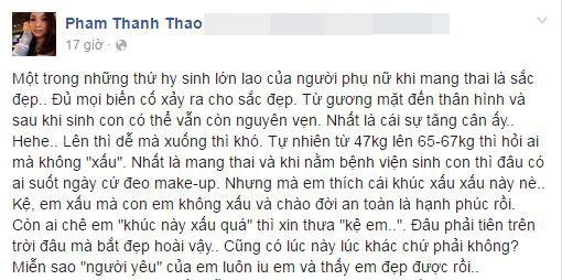 Dòng trạng thái mới nhất của Phạm Thanh Thảo. - Tin sao Viet - Tin tuc sao Viet - Scandal sao Viet - Tin tuc cua Sao - Tin cua Sao