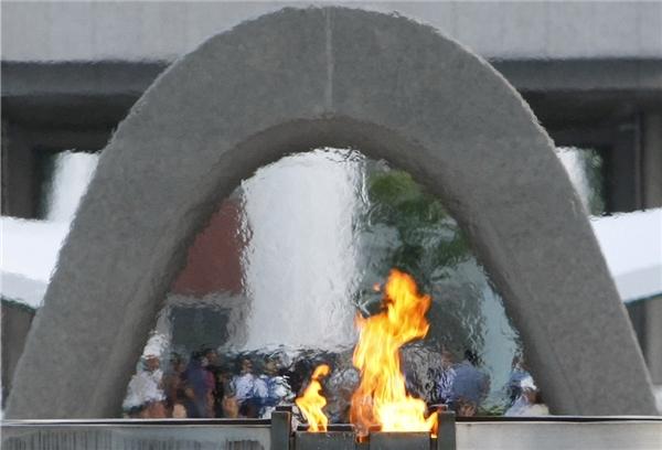 Ngọn lửa Hoà bình đã được thắp sáng vào năm 1964 và sẽ không tắt cho đến khi tất cả vũ khí hạt nhân trênTrái đất bị tiêu huỷ.