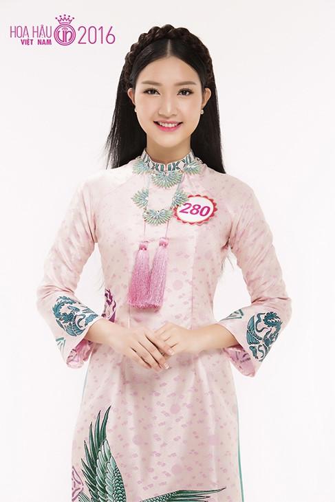 Lê Trần Ngọc Trân là gương mặt sáng giá cho ngôi vị hoa hậutrong cuộc thi Hoa hậu Việt Nam 2016.