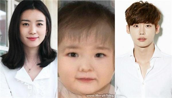 Nếu được thì có lẽ fan đã gửi bức phác họa này cho tác giả của Wđể đứa bé củaHan Hyo Joo và Lee Jong Suk sẽ có mặt ở cái kết. (Ảnh: Internet)