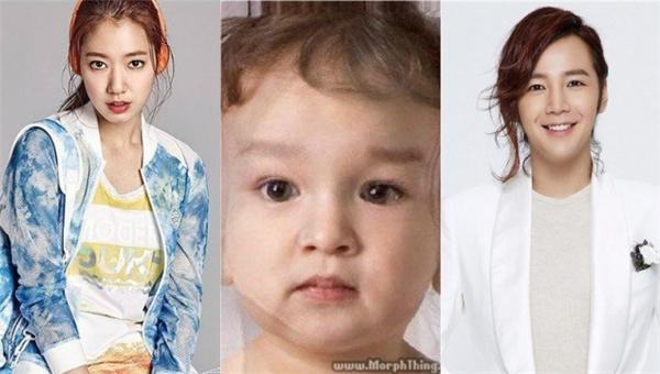 Bạn thấy đứa bé giốngPark Shin Hye hơn hay giốngJang Geun Suk hơn?(Ảnh: Internet)