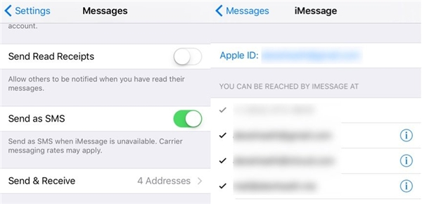 Cần thiết lập đúng iMessage cho thiết bị như iPhone hoặc iPad. (Ảnh: internet)