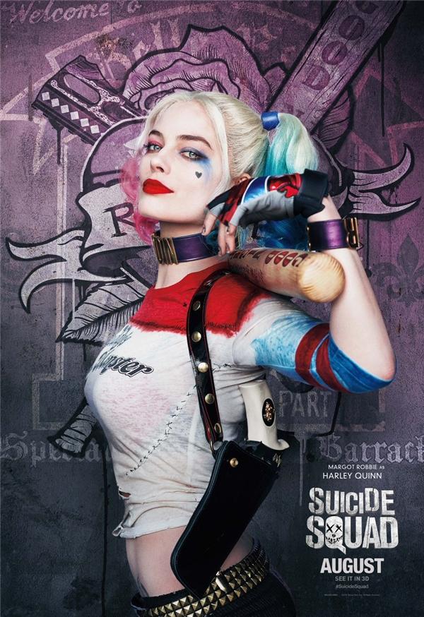 Harley Quinn quyến rũ chết người trên màn ảnh.