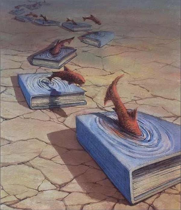 Tri thức có thể giúp một con cá nhỏ tiến ra biển lớn.