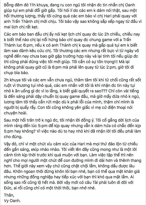 """""""Tâm thư"""" của Vy Oanh nhanh chóng thu hút sự quan tâm của cộng đồng mạng. - Tin sao Viet - Tin tuc sao Viet - Scandal sao Viet - Tin tuc cua Sao - Tin cua Sao"""