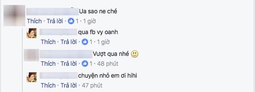 """Khá nhiều bạn bè đã vào bình luận hỏi thăm nguyên nhân thì người này """"nhắn nhẹ"""": """"qua facebook Vy Oanh"""" và đối với cô, chuyện này là chuyện nhỏ, không đáng để bận tâm. - Tin sao Viet - Tin tuc sao Viet - Scandal sao Viet - Tin tuc cua Sao - Tin cua Sao"""