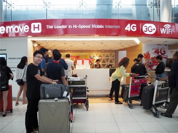 Một trạm cung cấp dịch vụ SIM tại Thái Lan. (Ảnh: internet)
