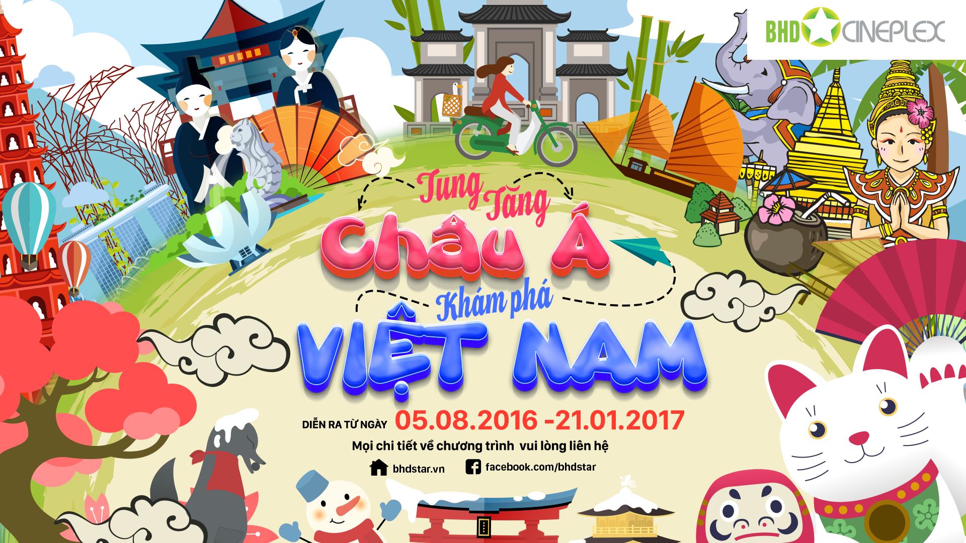 Cơ hội du lịch Châu Á dành cho thành viên BHD Star