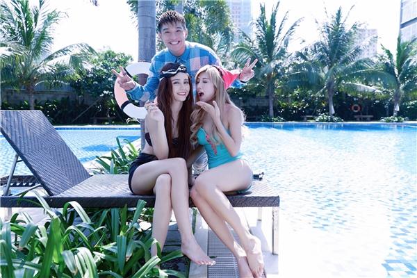 Diễn xuất cùng Trang Pháp trong MV Chỉ Là lần này ngoài Băng Di còn có hai người bạn là Cường Seven và MLee.