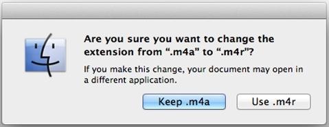 Một cửa sổ thông báo sẽ hiện lên bạn hãy tiếp tục chọn Use.m4r (Ảnh: internet)
