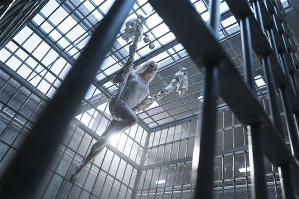 Ngay trong cảnh phim đầu tiên của mình, Harley Quinn đã xuất hiện vô cùng ấn tượng, thản nhiên đu mình trên sợi dây bện từ quần áo giữa hàng lớp song sắt và hàng rào bảo vệ, khiến người xem ngay lập tức có cảm giác về một nhân vật cực kì nguy hiểm.