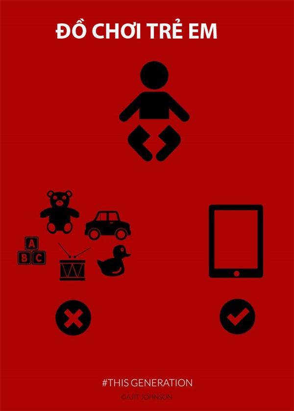 Trẻ con có thể nín khóc ngay khi được cầm chiếc smartphone.