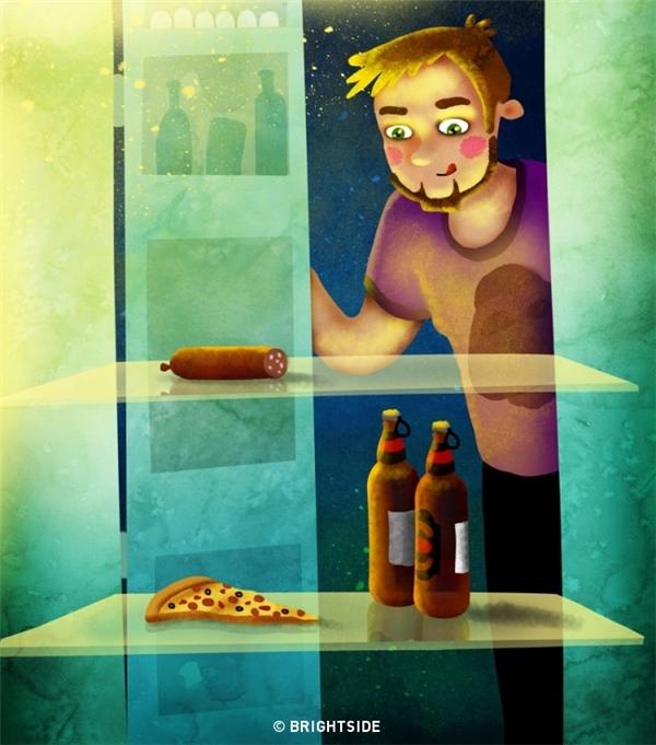 """Thức ăn nhanh, thức uống có cồn chỉ là những thứ để bạn """"xả"""" vào một dịp đặc biệt nào đó thôi, không phải là thực phẩm """"cứu trợ"""" cho bạn sống qua ngày đâu nhé."""