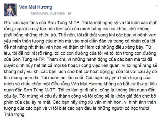 Văn Mai Hương từng bị fan Sơn Tùng xúc phạm trước đây. - Tin sao Viet - Tin tuc sao Viet - Scandal sao Viet - Tin tuc cua Sao - Tin cua Sao