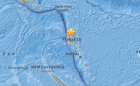 Trận động đất sáng 12/8 xảy ra tại Vanuatu. (Ảnh: Internet)