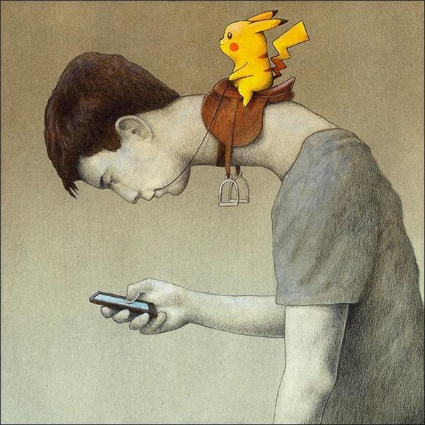 Con người đã hoàn toàn bị Pokemon điều khiển.