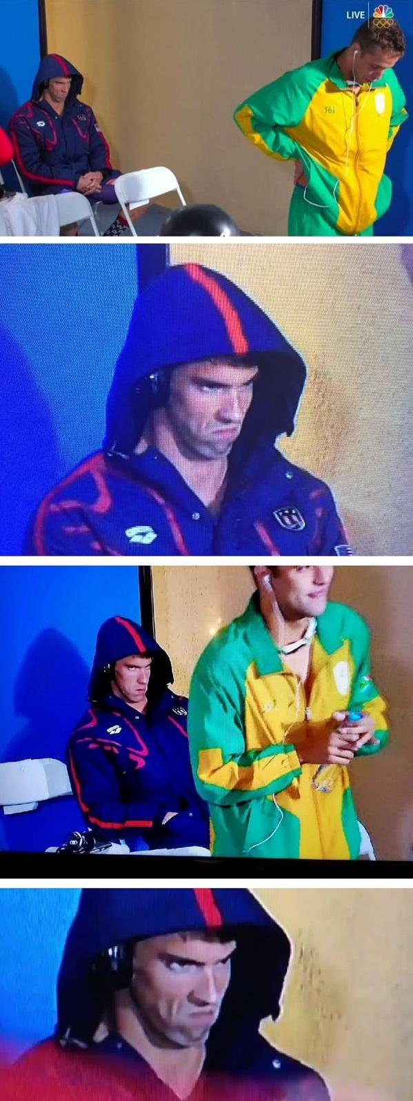 """Không bao giờ được đánh giá thấp """"sức mạnh biểu cảm"""" của Michael Phelps."""