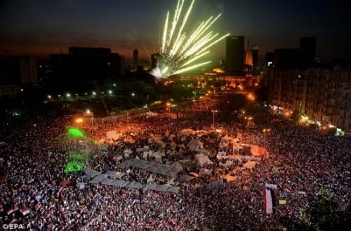 Quảng trường Tahrir, nơi xảy ra vụ việc kinh hoàng.
