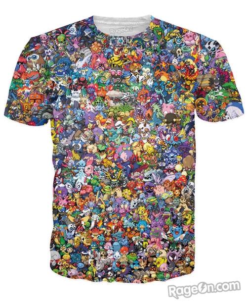 Hoặc một chiếc T-shirt với họa tiết là các chú pokemon ngộ nghĩnh đáng yêu.