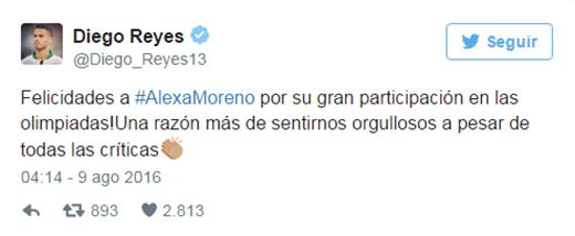 """""""Xin chúc mừng Alexa Moreno vì đã tham dự Thế vận hội. Cô có lý do tự hào, mặc cho những lời đánh giá."""""""