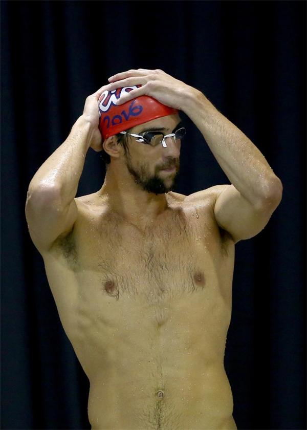 """James Magnussen ở Olympic London 2012với bộ dạng """"râu ria"""".(Ảnh: Internet)"""