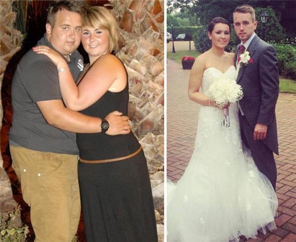 Để chuẩn bị cho hôn lễ của mình, cặp đôi này đã giảm 60kg/người để sở hữu thân hình thon gọn nhất.