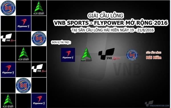 Giải cầu lông VNB SPORTS- FLYPOWER mở rộng năm 2016