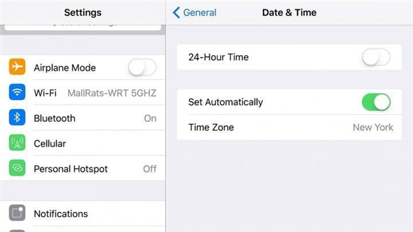 Chuyển sang chế độ Auto trong mụcDate & Time. (Ảnh: internet)