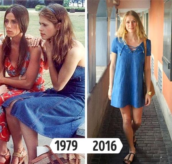 """Mùa Xuân - Hè 2016, denim trở thành xu hướng được ưa chuộng nhưng với vẻ ngoài nhẹ nhàng hơn chứ không quá bụi bặm, nổi loạn. Vào những năm cuối thập niên 70, chất liệu này bắt đầu xuất hiện và tạo nên một """"cơn bão"""" không hề thua kém thời điểm hiện tại với những biến tấu đa dạng: quần loe, váy xòe, áo sơ mi..."""