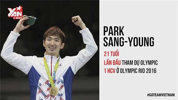 """Cũng như Schooling, đây là lần đầu tiênPark Sang-young tham dự Olympic. Và anh đã giành ngay tấm huy chương vàng cho thể theo Hàn Quốc. Trong trận chung kết, những khán giả theo dõi qua camera đã phát hiện anh luôn lẩm bẩm câu nói: """"Mình có thể làm được"""". Và anh ấy đã thành công."""