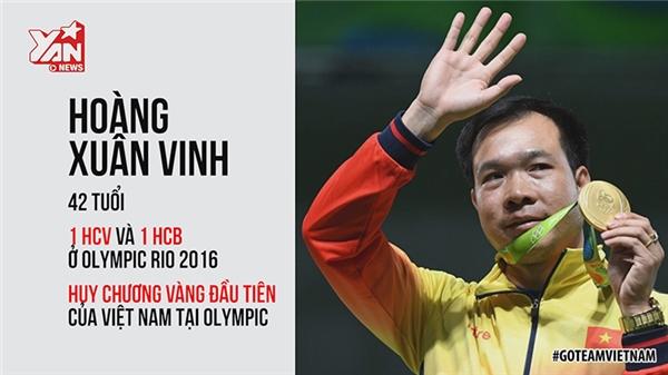 """Có thể nói đến thời điểm hiện tại, Hoàng Xuân Vinh là một huyền thoại của thể thao Việt Nam tại Olympic. Anh là người đầu tiên mang huy chương vàng về cho Việt Nam và là vận động viên đầu tiên giành 2 huy chương trong cùng một thế vận hội. Anh chia sẻ: """"HCV Olympic không phải điểm dừng của tôi. Tôi sẽ bắn đến khi Tổ quốc không cần tôi nữa"""". (Ảnh cắt từ clip)"""