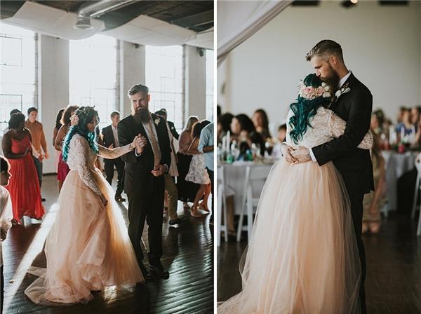 Bây giờ cô đã có thể đứng 45 phút suốt buổi lễ và khiêu vũ cùng chú rể.