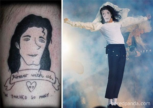 Michael Jackson có khisống lạiđể mắng tên đã làm chiếc hình xăm này mất thôi.