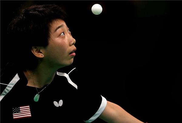 Quả bóng có khi còn không to và tròn bằng mắt củaYue Wu.