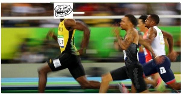 """Usain Bolt chính là phiên bản đời thật của bản mặt """"troll""""."""