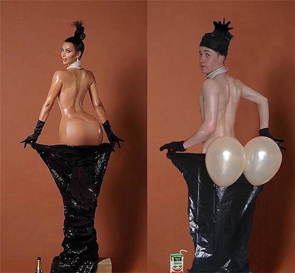Bởi vì không thể bơm được vòng ba ngập tràn như cô Kim nên bơm tạm hai quả bóng vậy.
