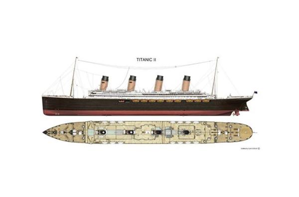 Bản vẽ của Titanic II.