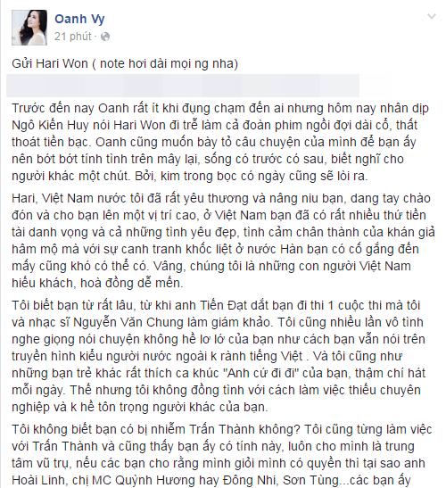...và Vy Oanh đều lên tiếng tố Hari làm việc thiếu chuyên nghiệp. - Tin sao Viet - Tin tuc sao Viet - Scandal sao Viet - Tin tuc cua Sao - Tin cua Sao