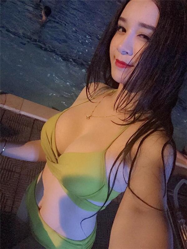 Thùy Anhtừng được mọi người chú ý trước đây trong bộ đồ bikini nóng bỏng. (Ảnh: Internet)