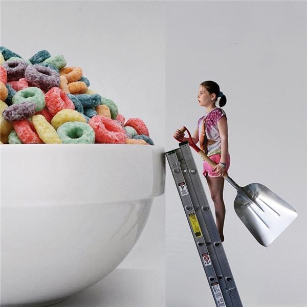 Bữa sáng phải dùng xẻng xúc mới chịu cơ.