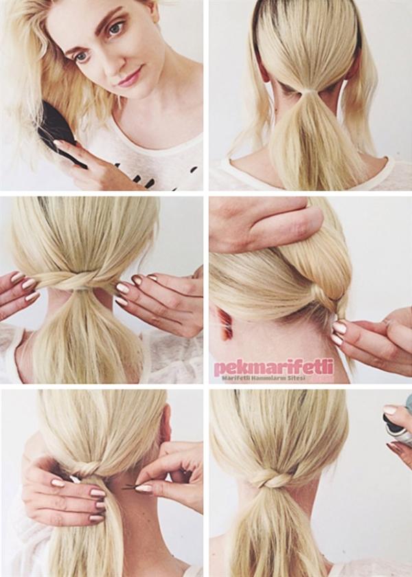 Buộc chéo - kiểu tóc dành riêng cho những cô nàng yêu thích sự đơn giản.