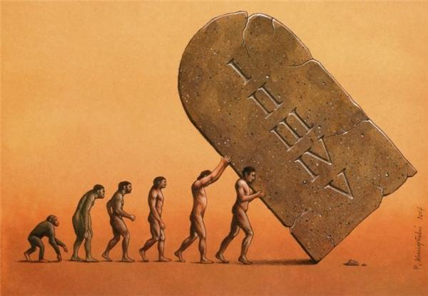 Mỗi một bước tiến hóa của loài người là một viên gạch đặt vào nấm mồ của sự diệt vong. Con người đang tiến hóa dần đến sự diệt vong.