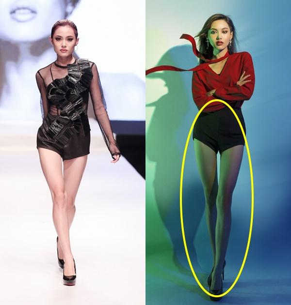 So sánh lại với những hình ảnh trước đây của La Thanh Thanh, không khó để nhận ra đôi chân của cô nàng đã bị kéo dãn quá đà.