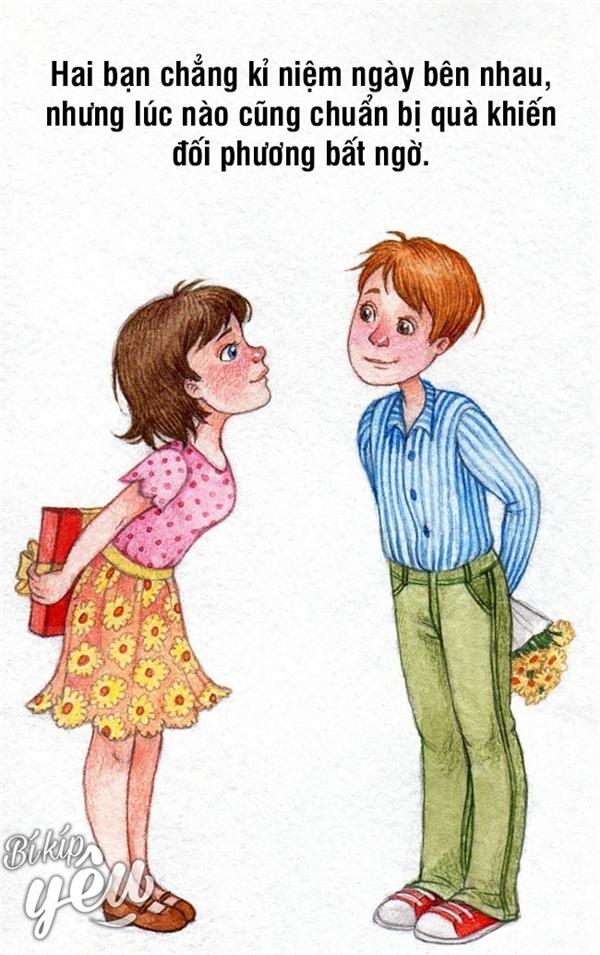 Hai người có thỏa thuận rằng ngày kỉ niệm không cần làm gì đặc biệt cho nhau, thế mà luôn nhận được bất ngờ từ đối phương.